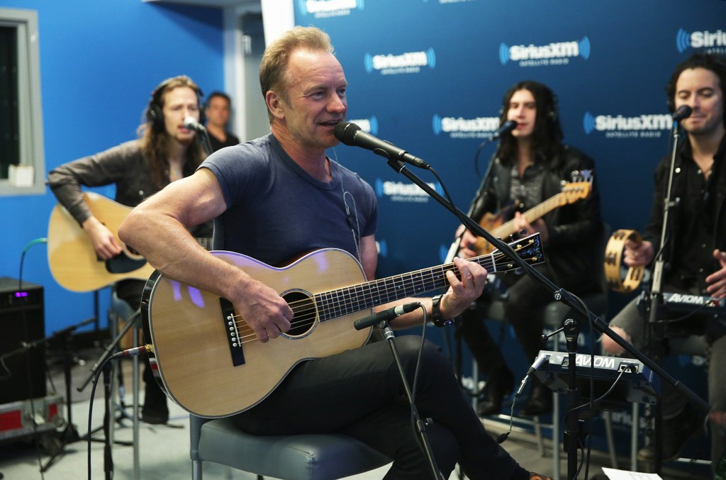 Sting performs at The SiriusXM Studios on Nov. 8, 2016 in New York City.