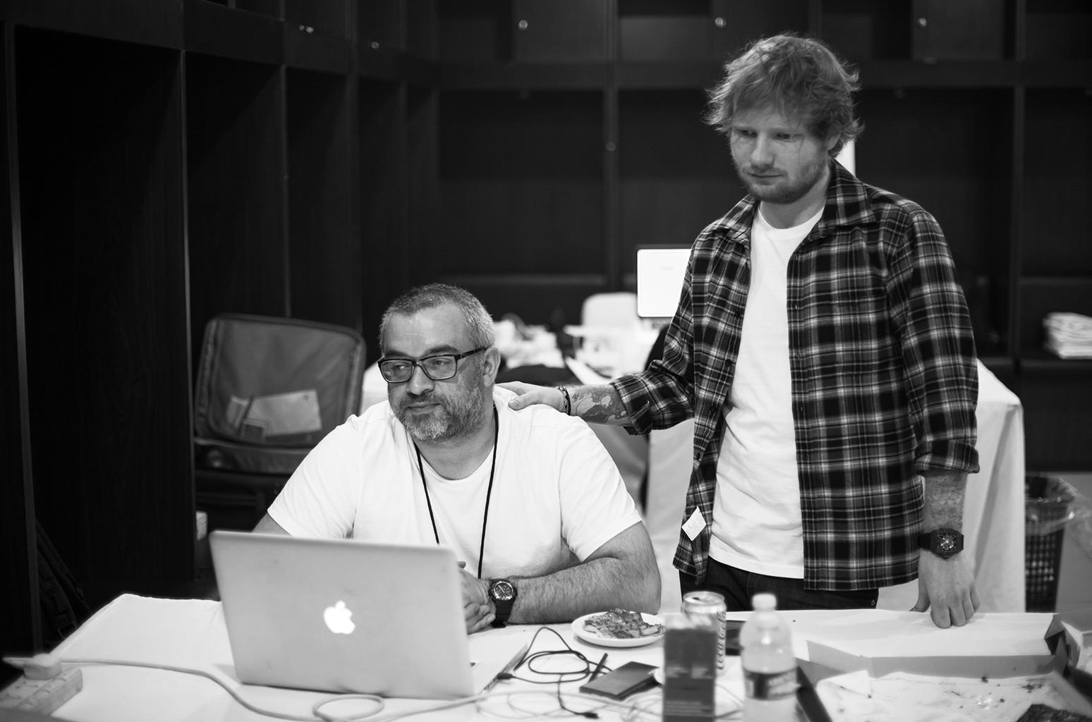 Stuart Camp and Ed Sheeran
