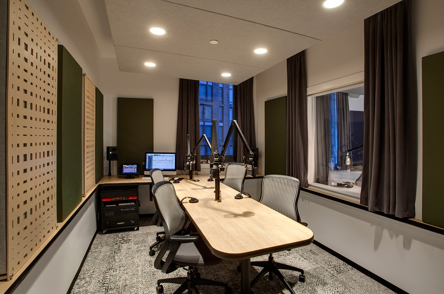 Studio 3 at Gimlet Media's Brooklyn headquarters
