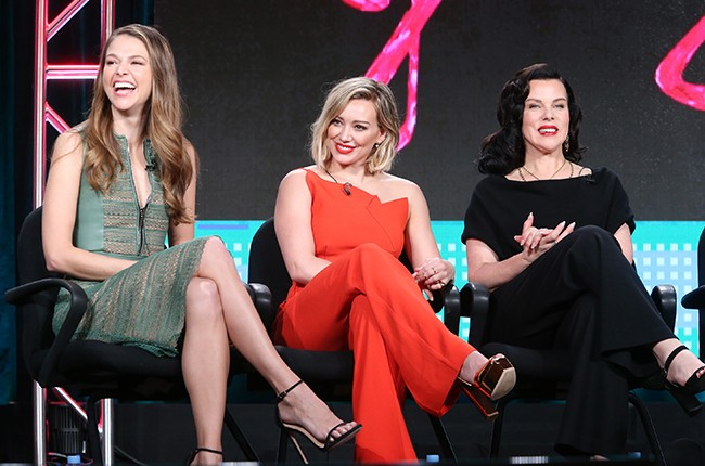 Sutton Foster, Hilary Duff and Debi Mazar speak during the TV LAND - Younger panel