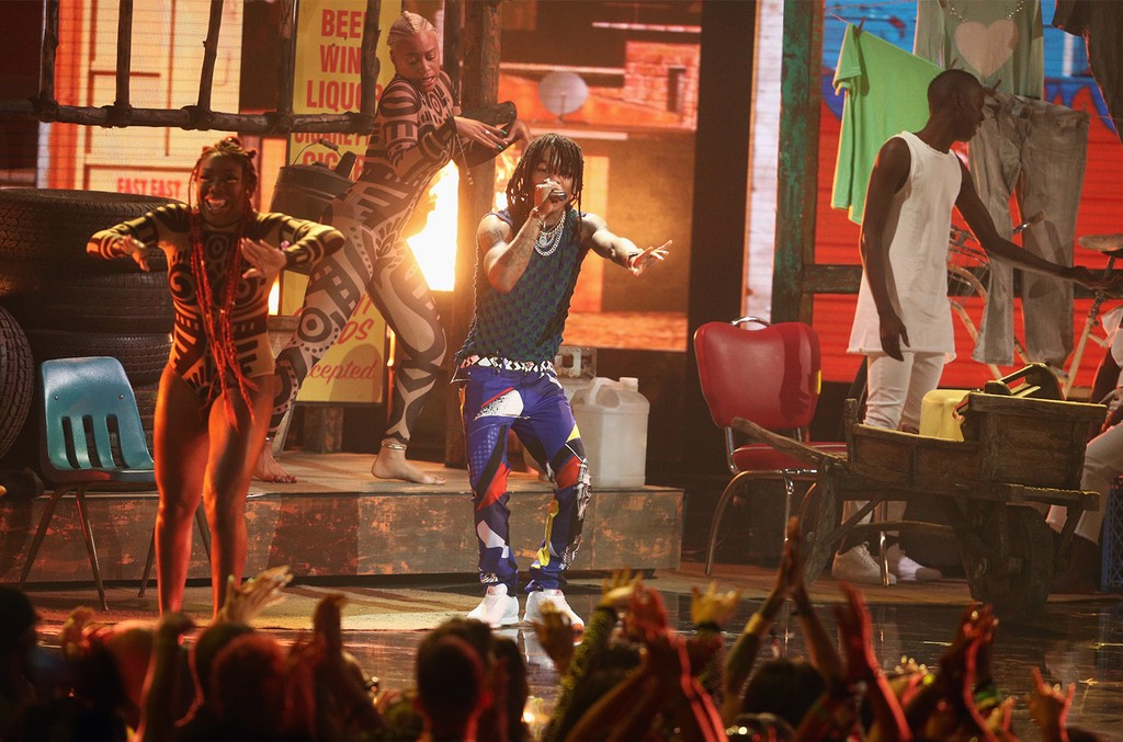 Swae Lee of Rae Sremmurd performs onstage at 2017 BET Awards at Microsoft Theater on June 25, 2017 in Los Angeles.