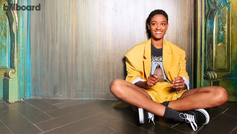 <p>Syd photographed on May 15, 2018 at Bar Gonzo in New York. Styling by Calvy Click. Syd wears a Moon Choi jacket and shorts, Etnia Barcelona sunglasses and Vans sneakers.</p>