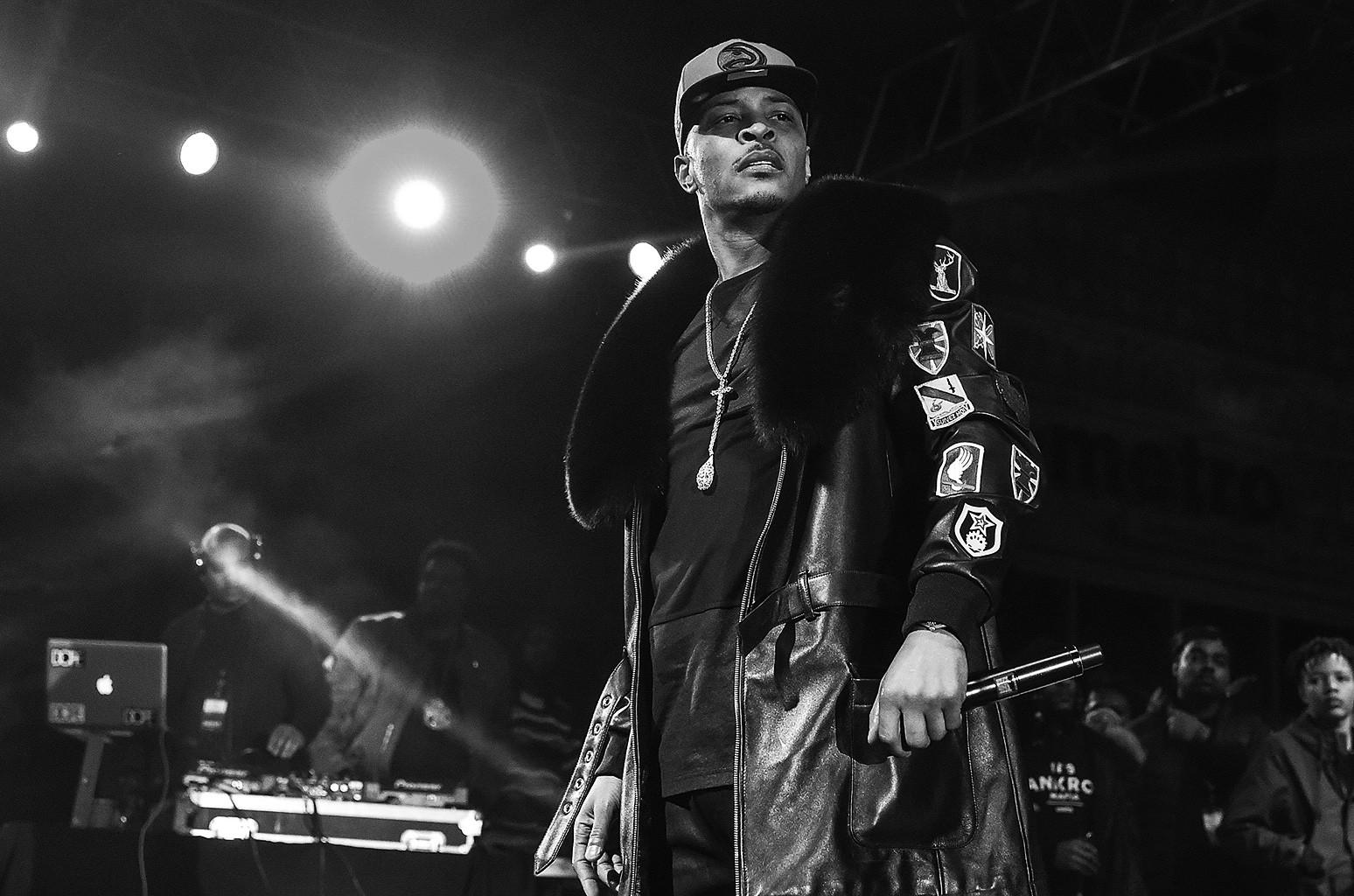 T.I. performs onstage at Peach Drop 2016 at Underground Atlanta on Dec. 31, 2015 in Atlanta.
