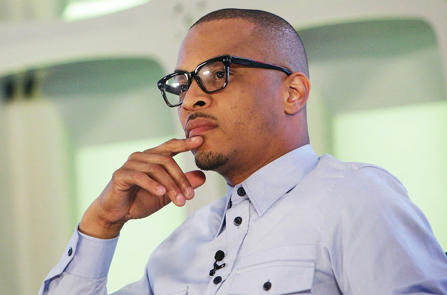 T.I. attends the BET Music Presents: Us Or Else panel discussion at the Viacom White Box Hall on April 6, 2017 in New York City.