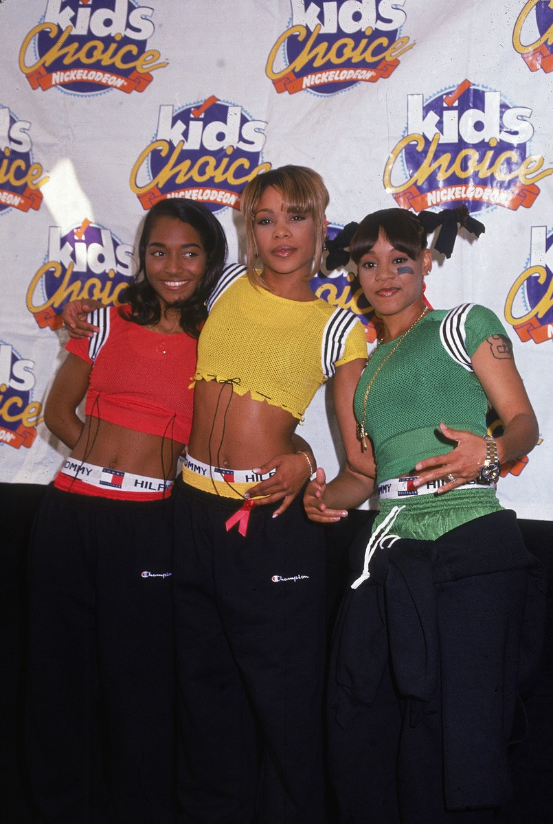 TLC pose at the Nickelodeon Kids' Choice Awards in Los Angeles in 1995.