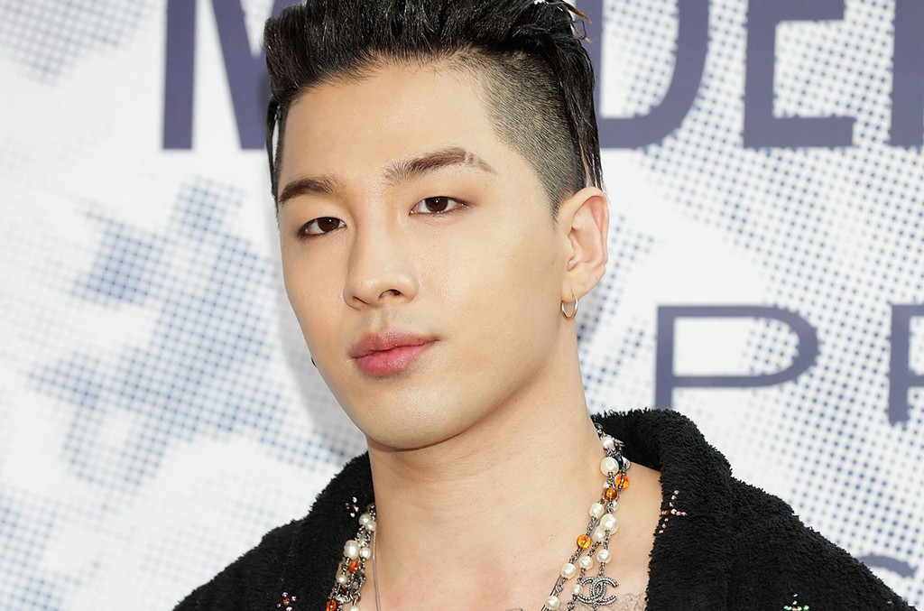 """Taeyang of Big Bang attends the """"Mademoiselle Prive"""" exhibition at the D-Museum on June 21, 2017 in Seoul, South Korea."""