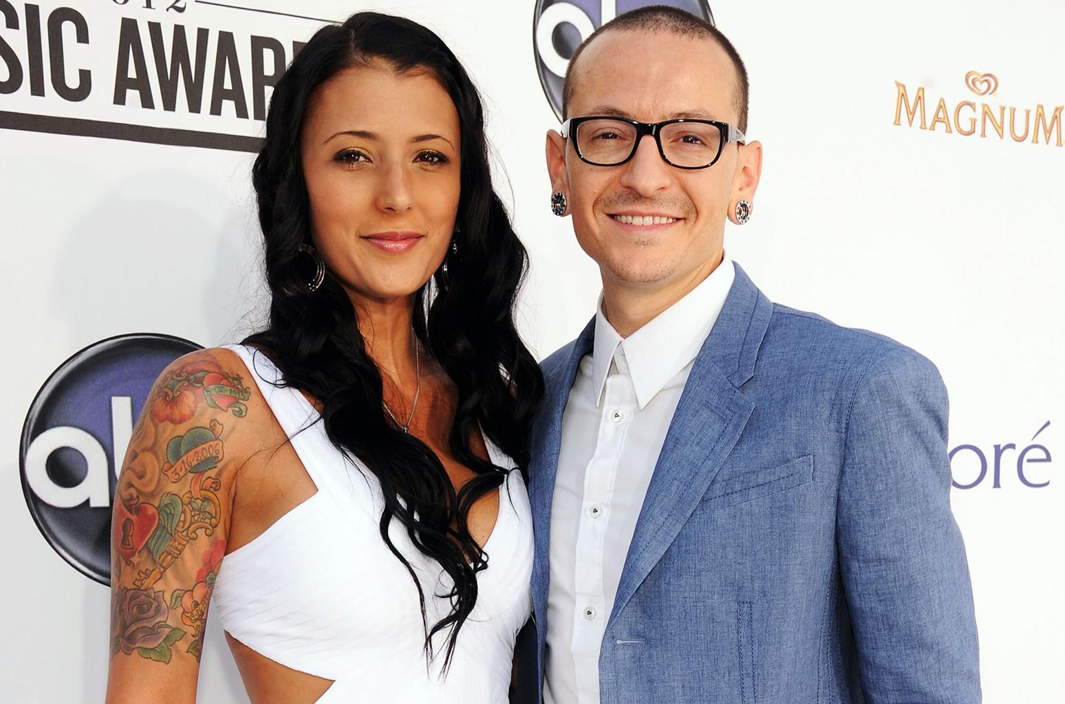 Chester Bennington of Linkin Park and Talinda Bennington