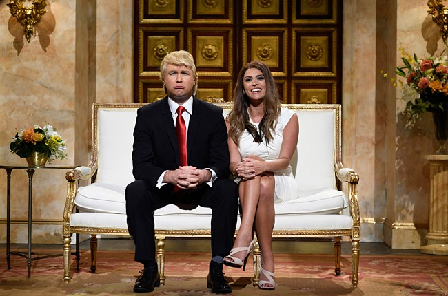 Taran Killam as Donald Trump and Cecily Strong as Melania Trump