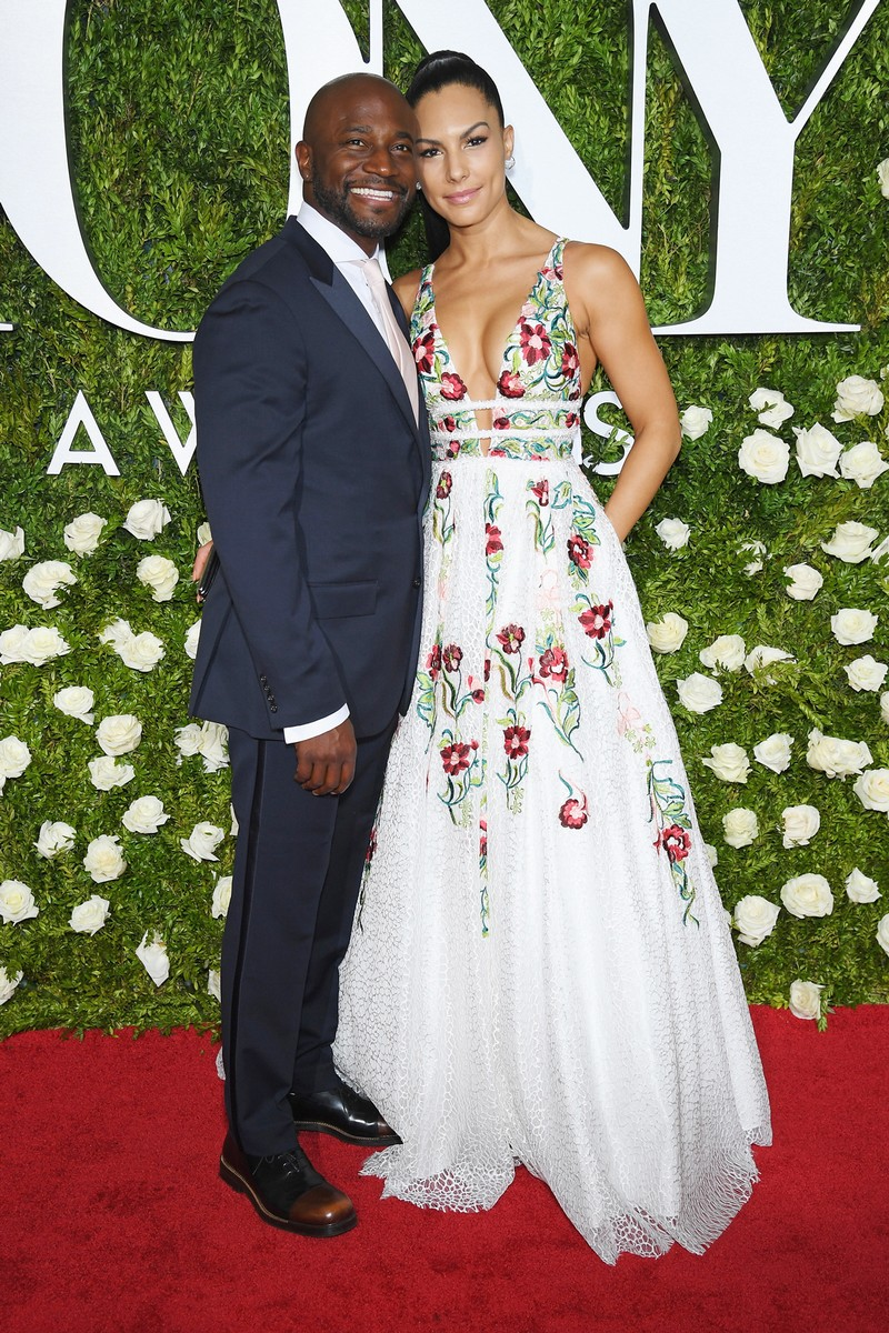 Taye Diggs and Amanza Smith attend the 2017 Tony Awards at Radio City Music Hall on June 11, 2017 in New York City.