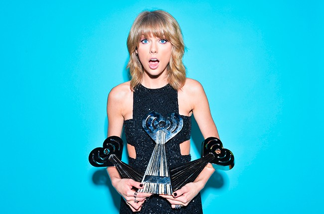 Taylor Swift at the 2015 iHeartRadio Music Awards on March 29, 2015 in Los Angeles.