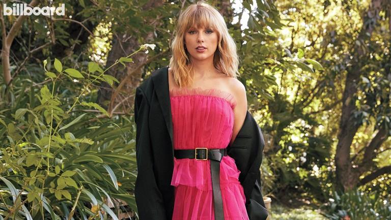 <p>Taylor Swift photographed Oct. 20, 2019 in Los Angeles.&nbsp&#x3B; Styling by Joseph Cassell Carolina Herrera dress, Alexander McQueen belt, Gucci blazer, Chloe Gosselin shoes, Sutra Jewels and Stefere jewelry.</p>