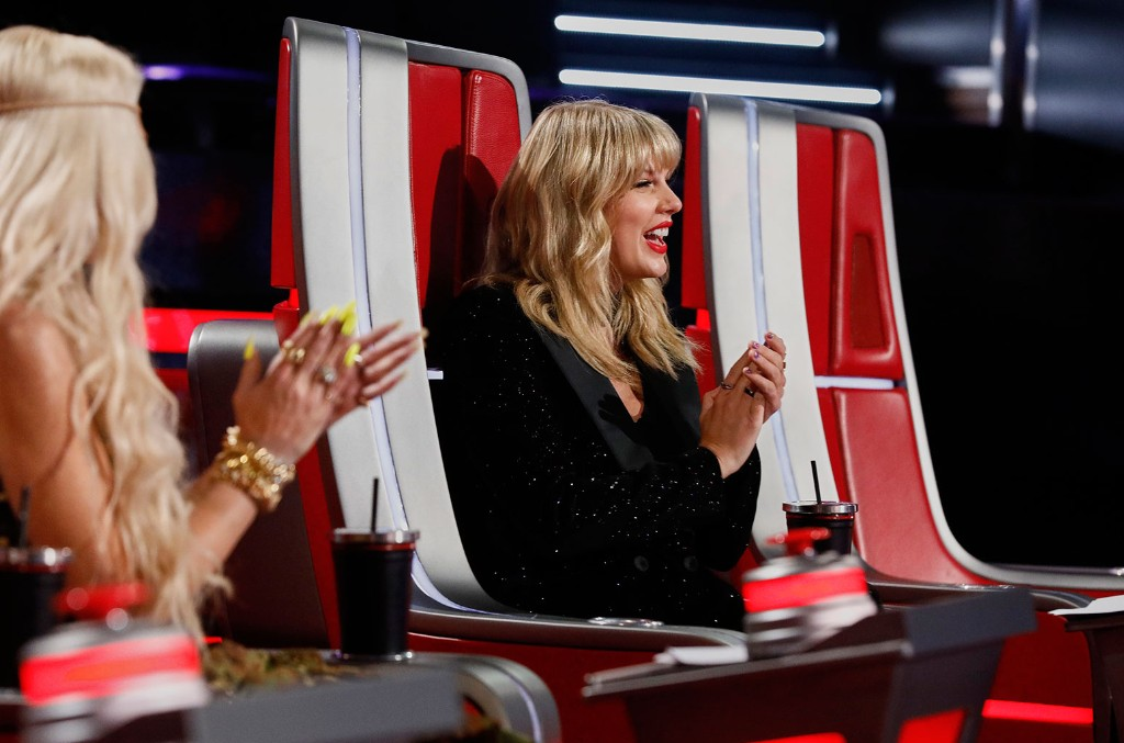 Taylor Swift on The Voice on Oct. 29, 2019.