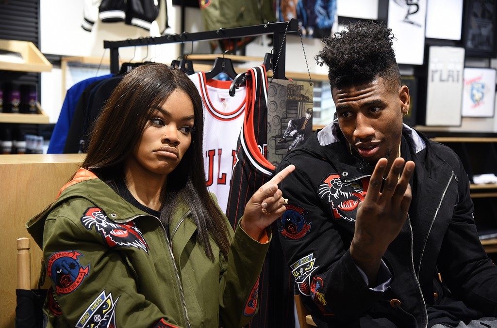 Teyana Taylor and Iman Shumpert.
