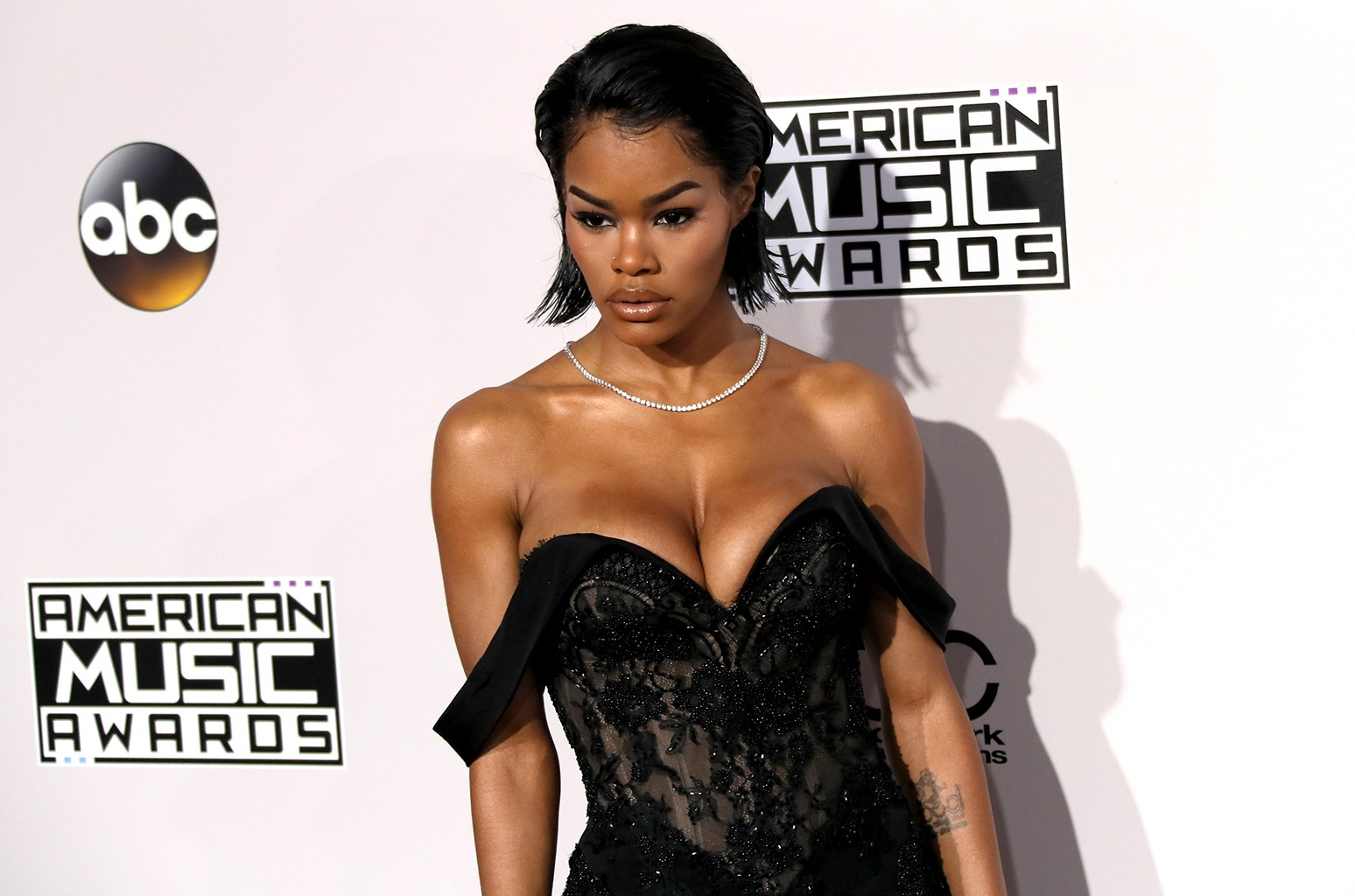 Teyana Taylor attends the 2016 American Music Awards at Microsoft Theater on Nov. 20, 2016 in Los Angeles.