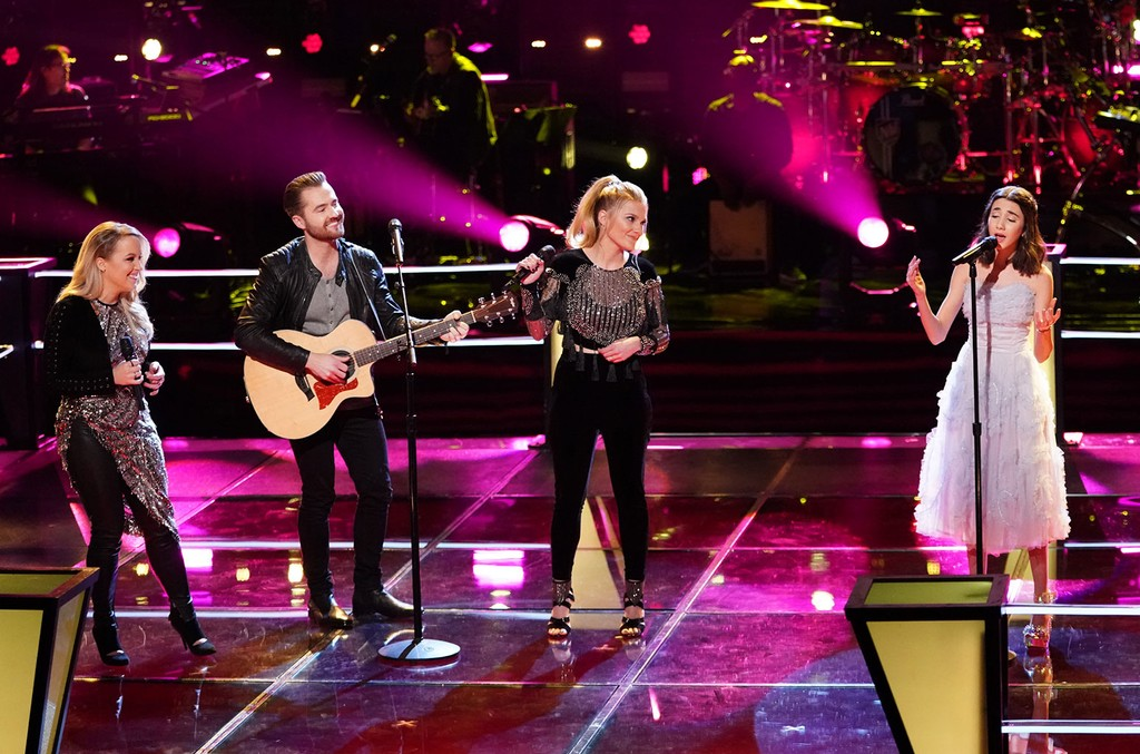 The Bundys and Mikaela Astel on The Voice.