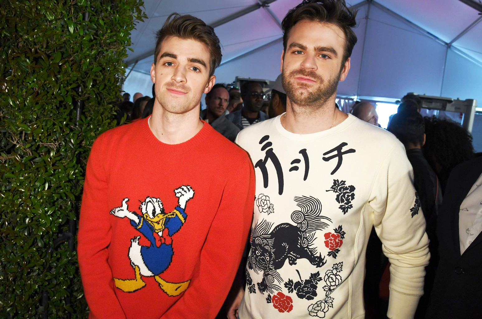 Drew Taggart and Alex Pall of The Chainsmokers attend the 2017 iHeartRadio Music Awards which broadcast live on Turner's TBS, TNT, and truTV at The Forum on March 5, 2017 in Inglewood, Calif.
