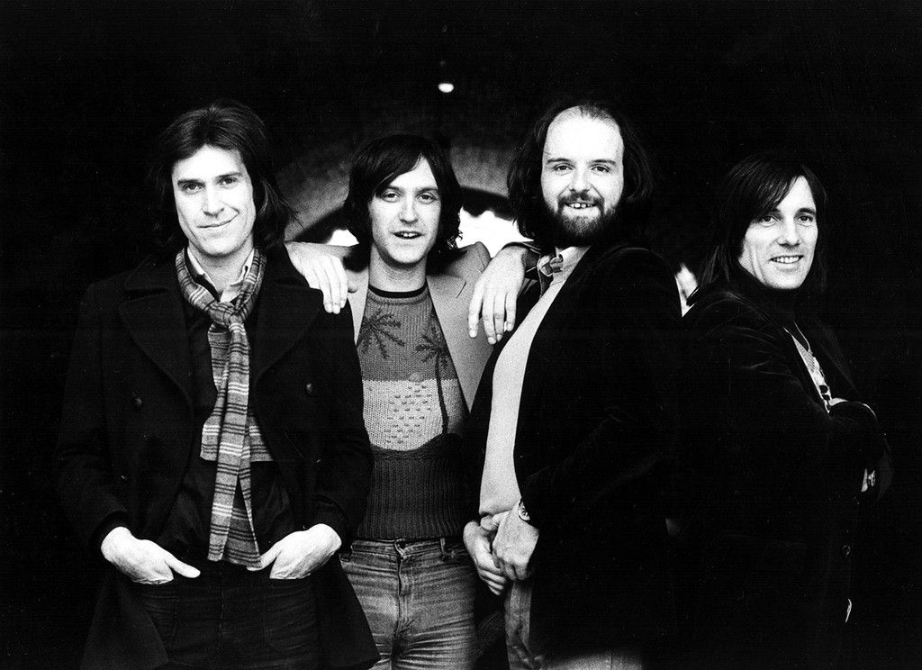 The Kinks photographed in the 1980s.