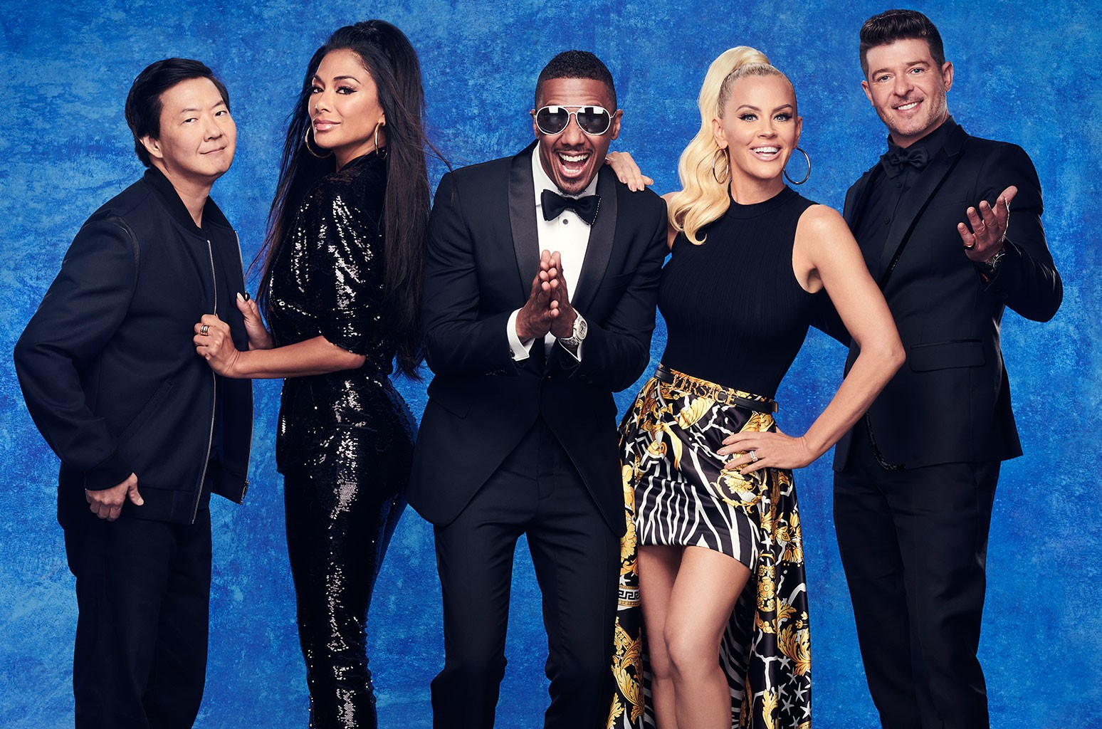 Ken Jeong, Nicole Scherzinger, Nick Cannon, Jenny McCarthy and Robin Thicke