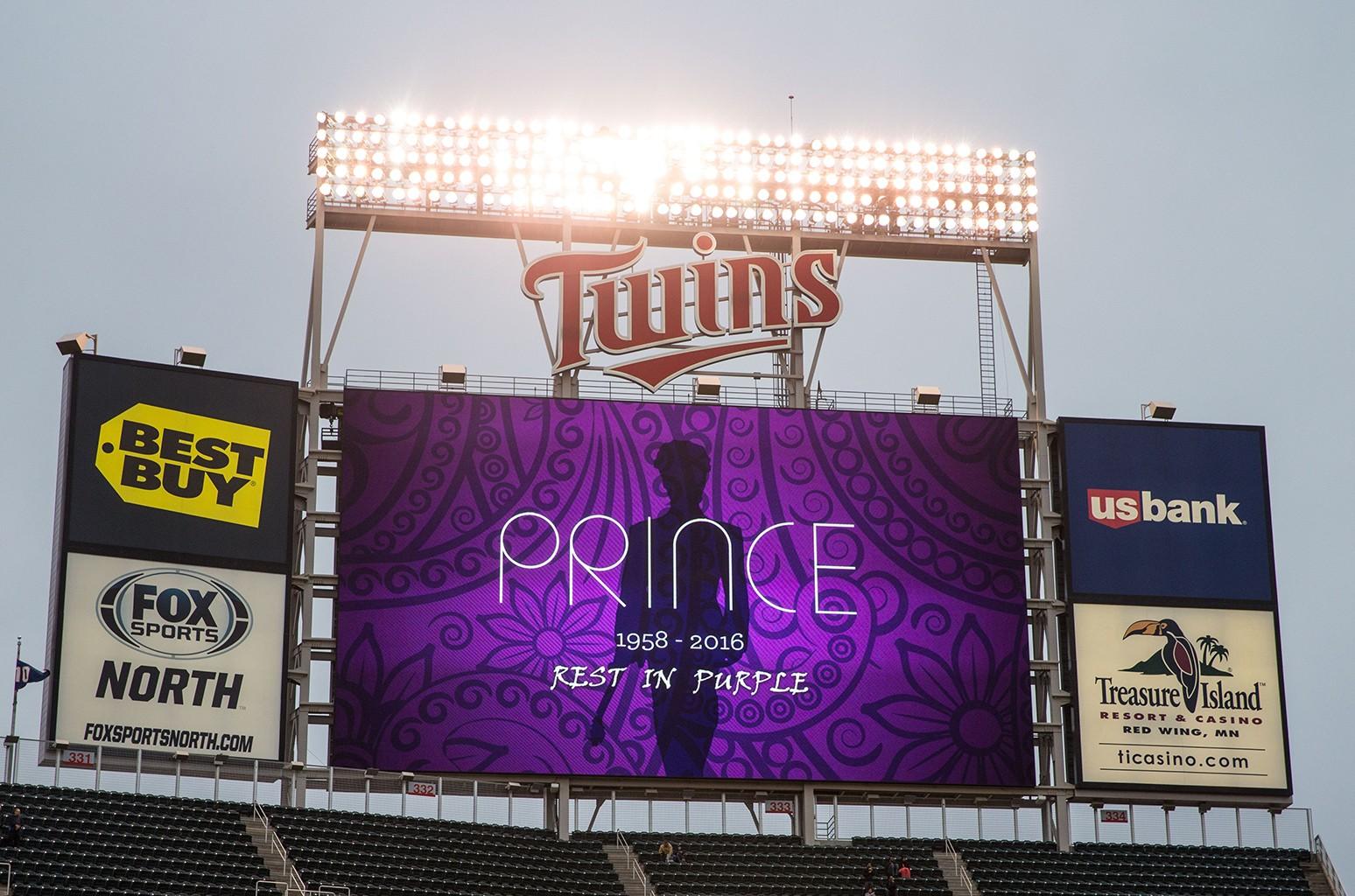 The Minnesota Twins honor musician Prince
