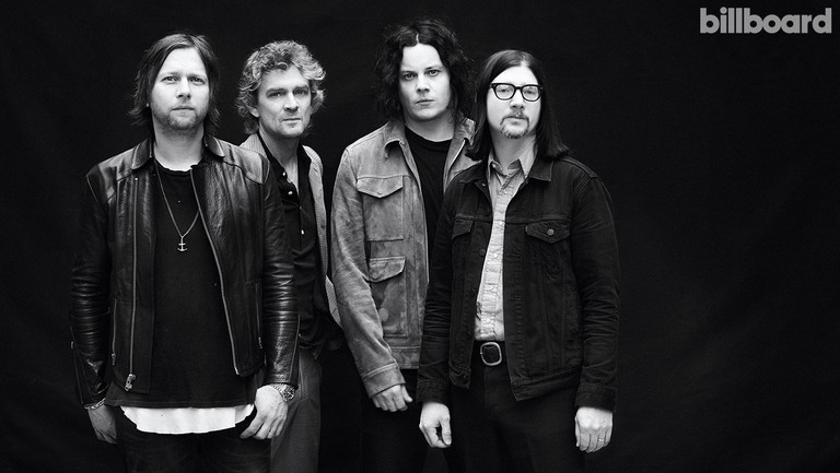 <p>Keeler, Benson, White and Lawrence of The Raconteurs photographed on May 24, 2019 at Shoreditch Studios in London.</p>
