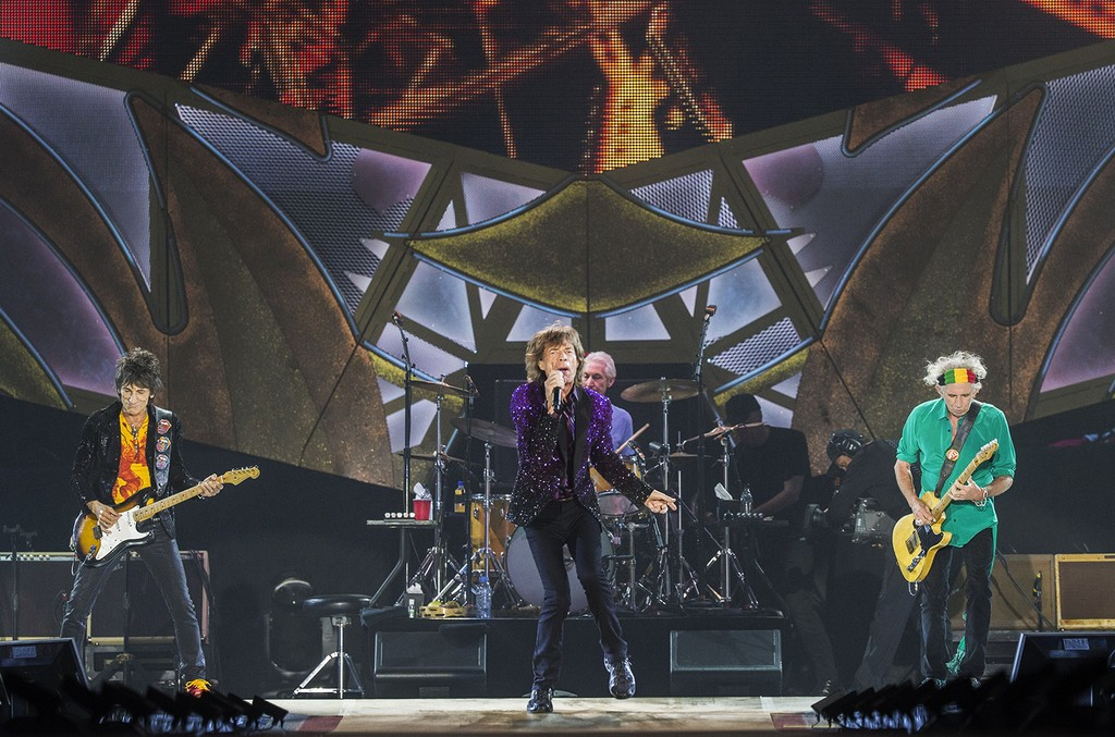 The Rolling Stones perform on stage at Hayarkon Park in Tel Aviv on June 4, 2014.