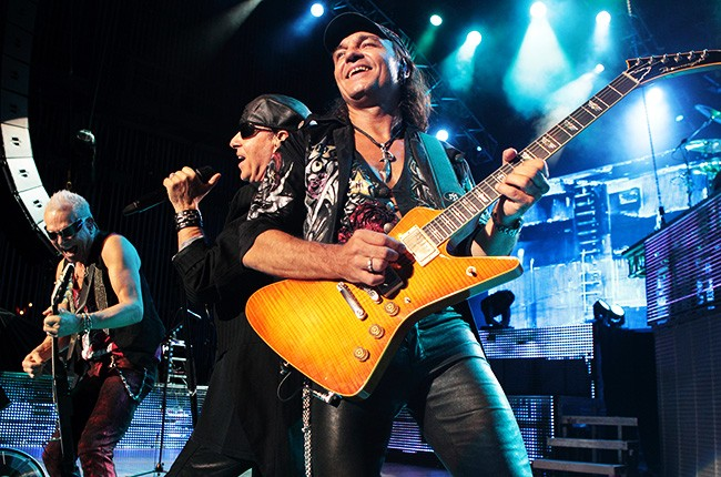 The Scorpions in concert during their Last Sting Tour at the Mann Music Center in Philadelphia on July 11, 2012.