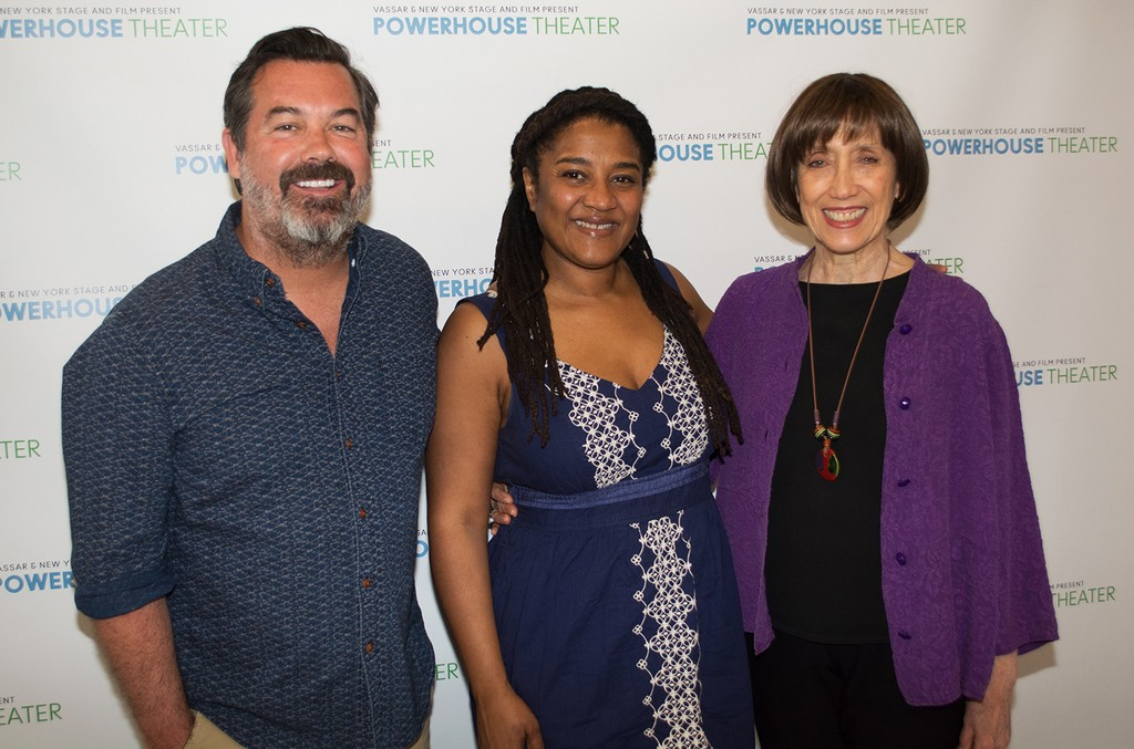 Duncan Sheik with his Secret Life of Bees collaborators Lynn Nottage and Susan Birkenhead