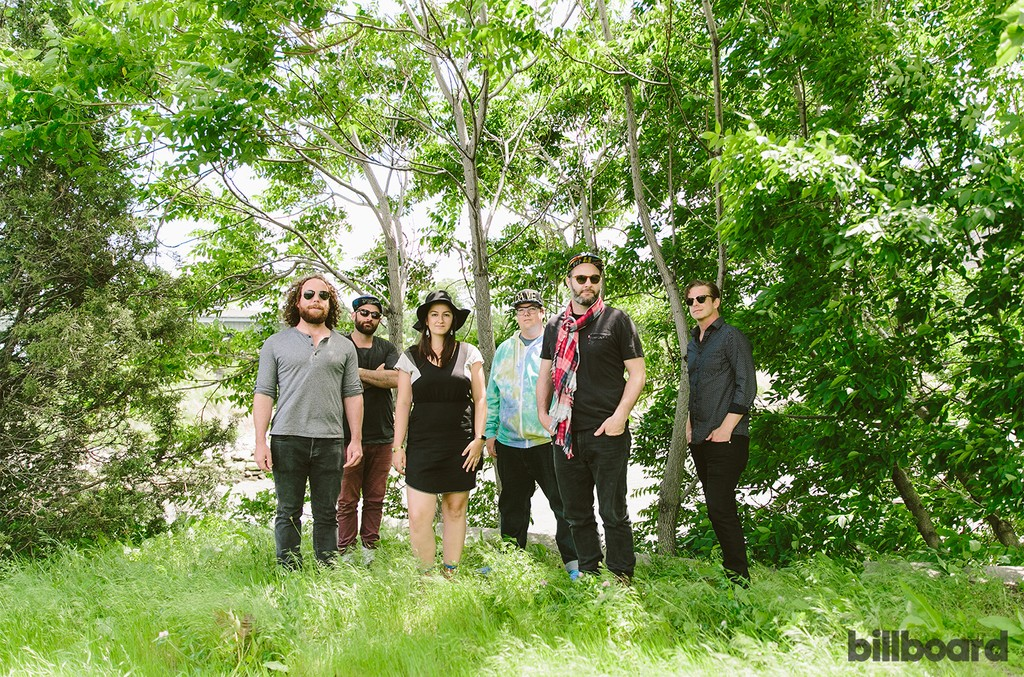 The Strumbellas photographed on June 2 at Randall's Island Park in New York.