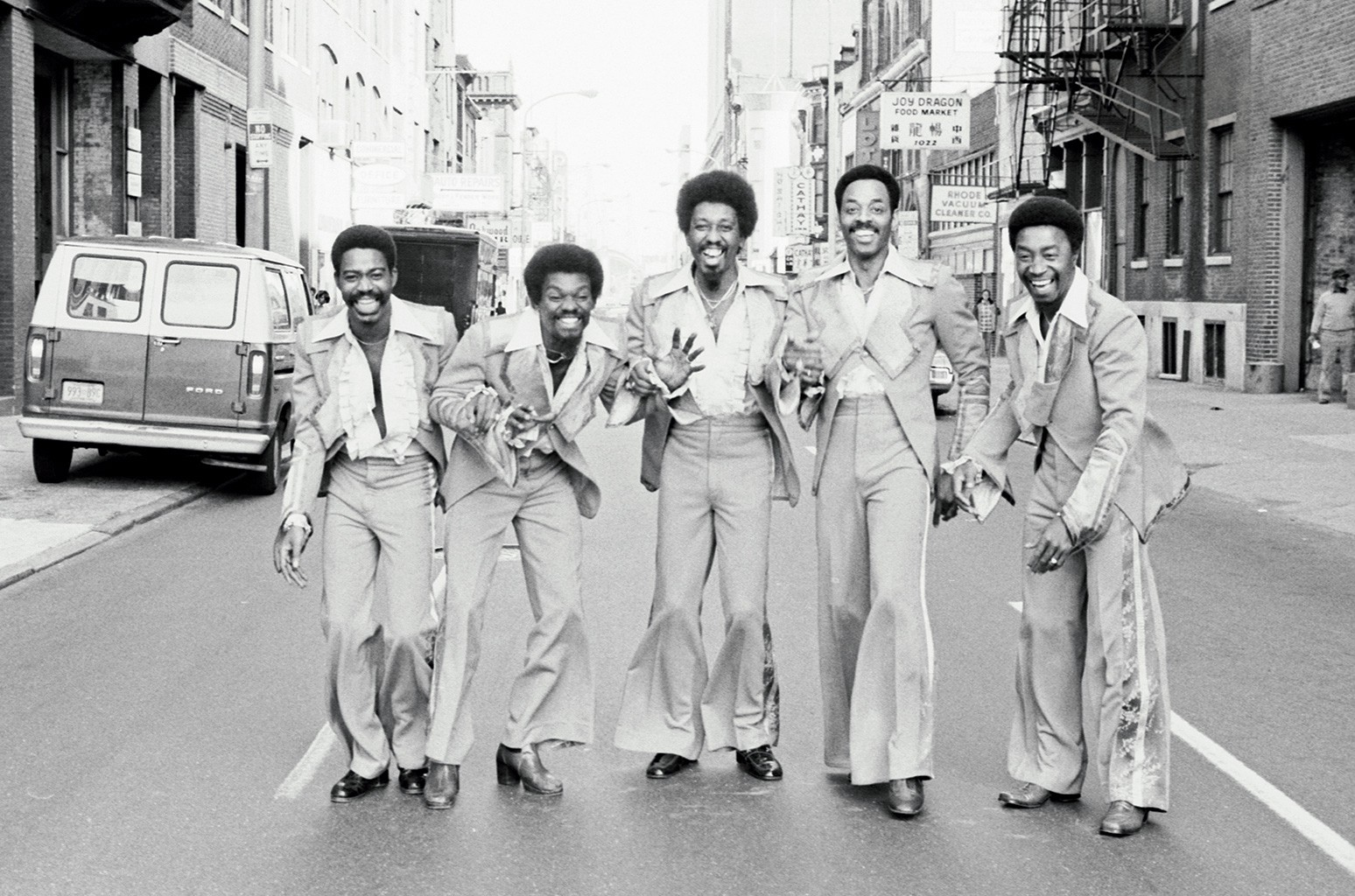 From left: Robert Upchurch, Stanley Wade, Harold Wade, Young and Jimmy Ellis of The Trammps in Philadelphia in 1977.