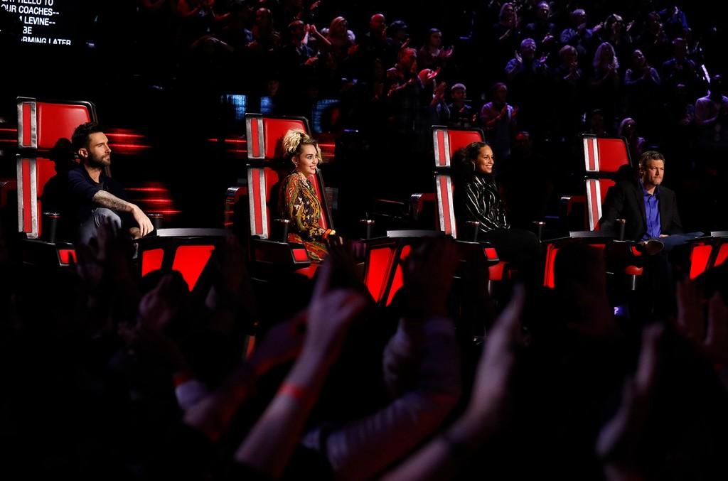 THE VOICE    Adam Levine, Miley Cyrus, Alicia Keys, Blake Shelton