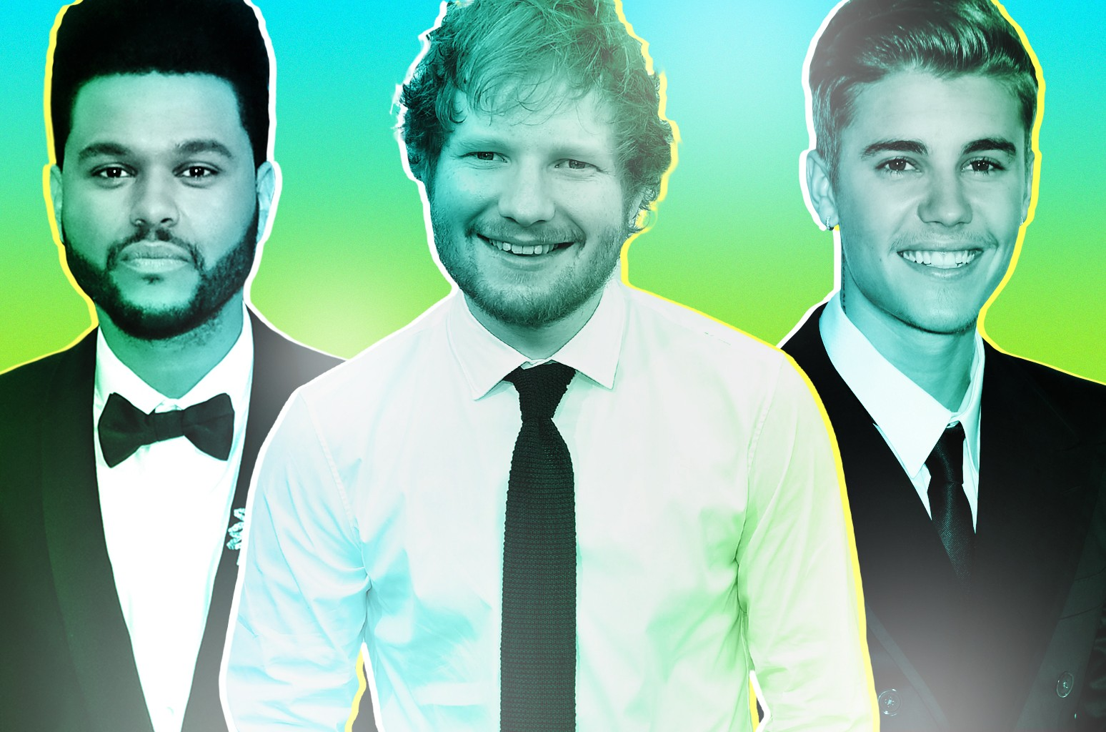 The Weeknd, Ed Sheeran & Justin Bieber