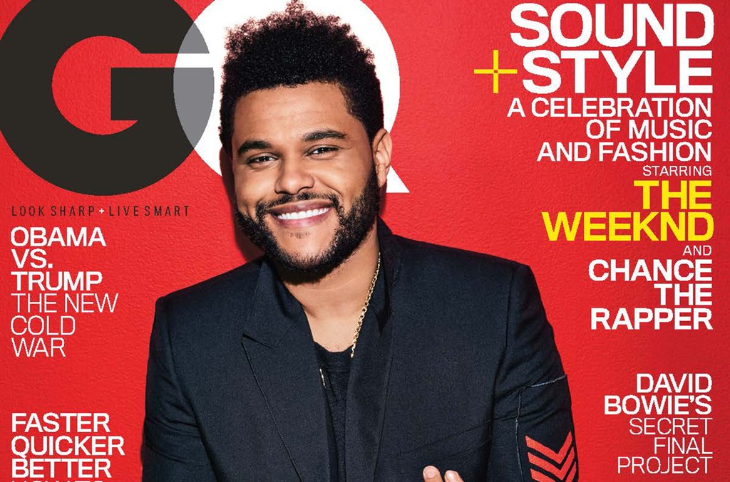 The Weeknd photographed for the February 2017 issue of GQ.