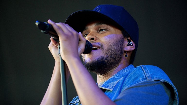 <p>The Weeknd performs during the 2nd Annual OVO Festival at the Molson Amphitheatre on July 31, 2011 in Toronto.</p>