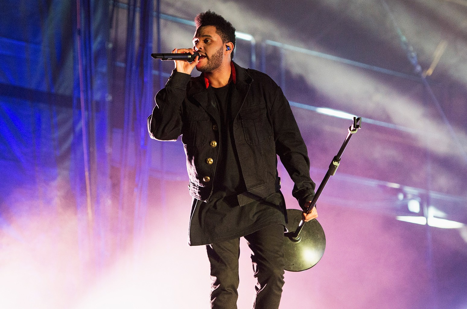 The Weeknd performs in 2016
