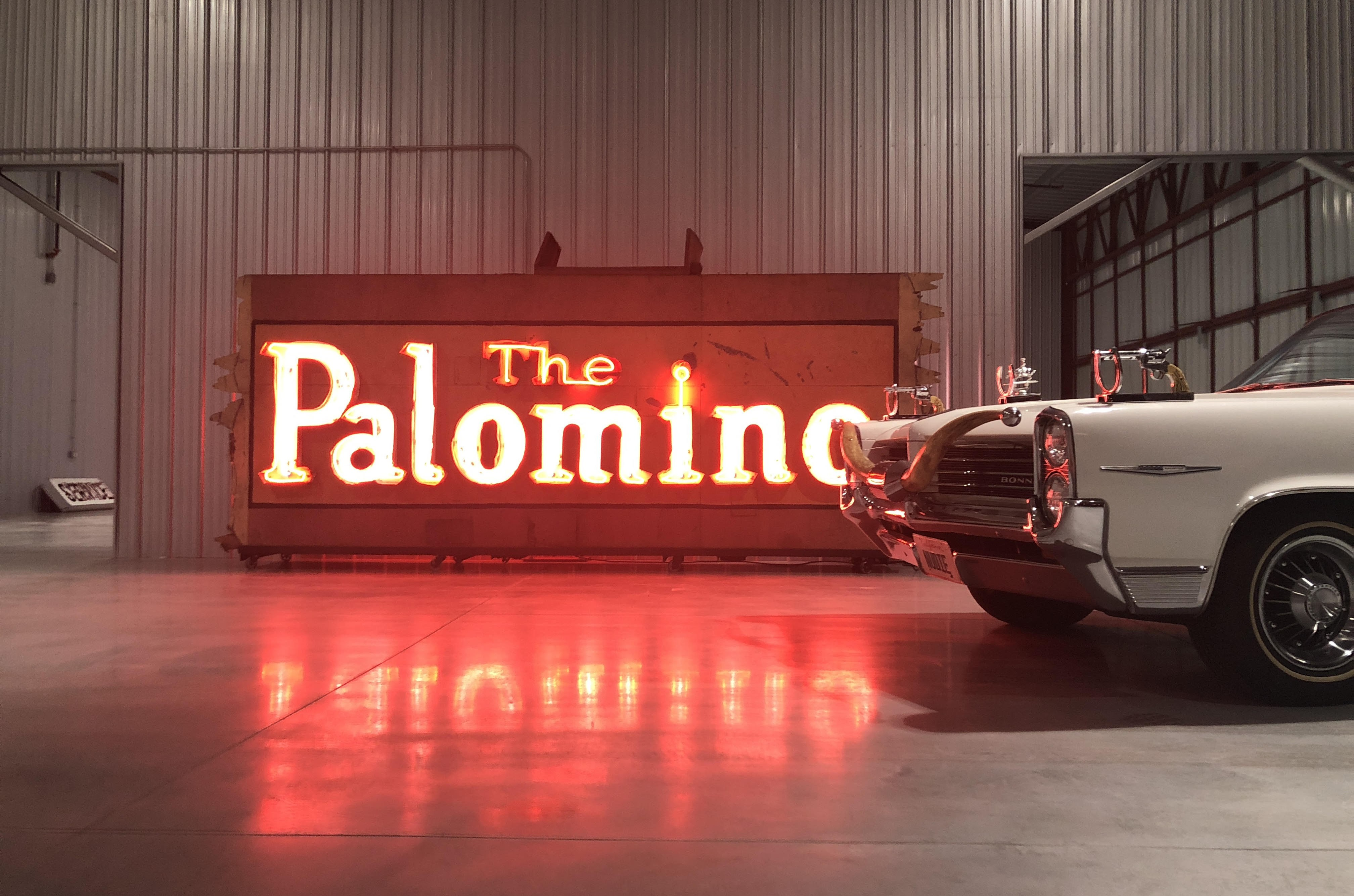 The Palomino sign on display at the Valley Relics Musuem.
