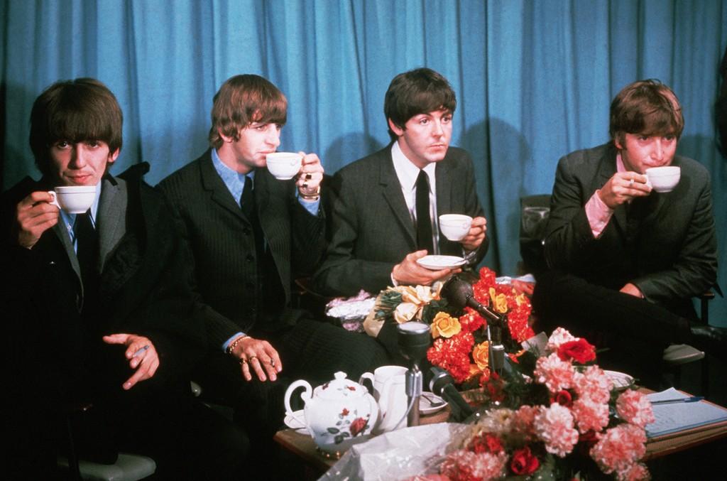 George Harrison, Ringo Starr, Paul McCartney, and John Lennon of The Beatles in the 1960s. THANKSGIVING