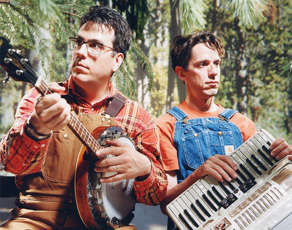 John Flansburgh and John Linnell of They Might Be Giants.