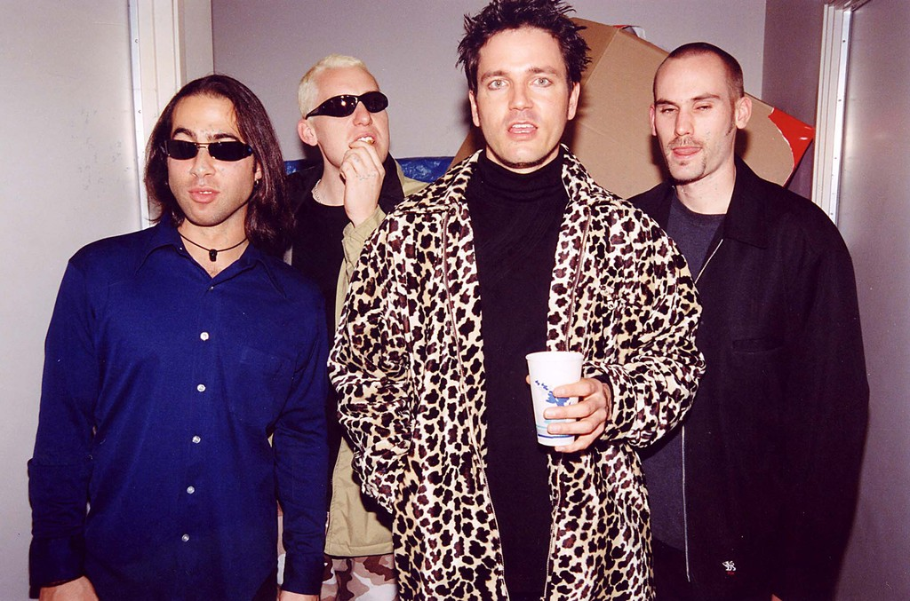 Stephan Jenkins and Third Eye Blind during 1997 KROQ Acoustic X-Mas in Los Angeles.