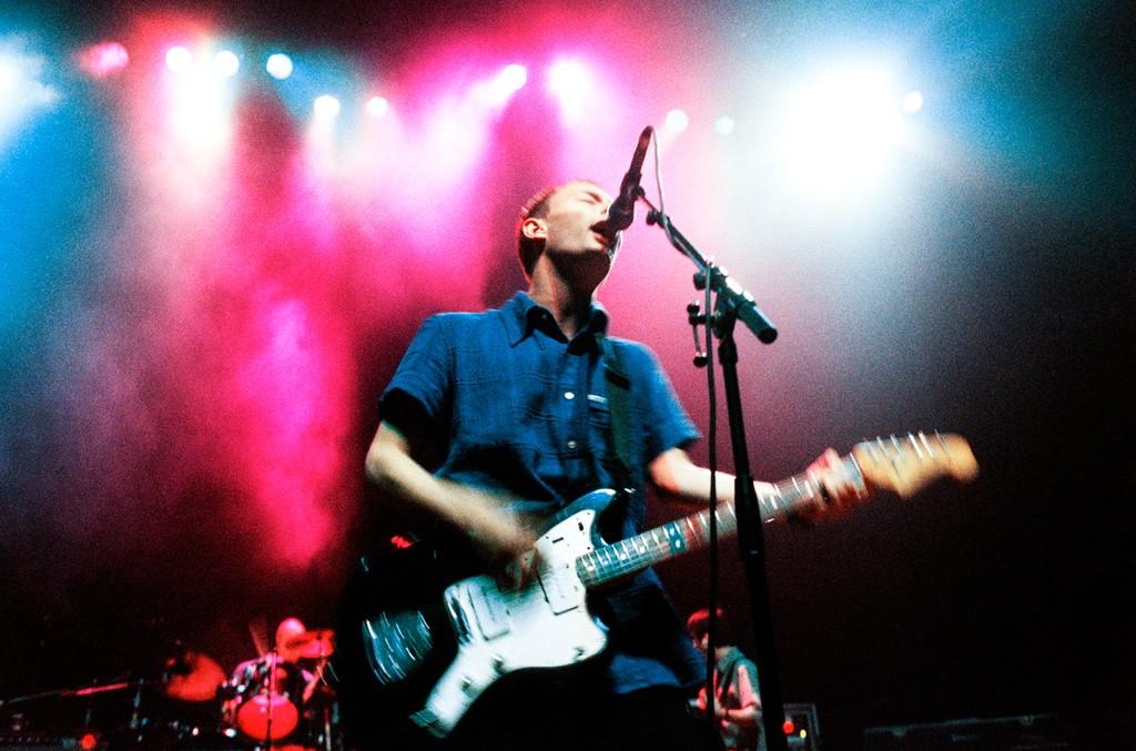 Tom Yorke of Radiohead performing on Oct. 13, 2005.