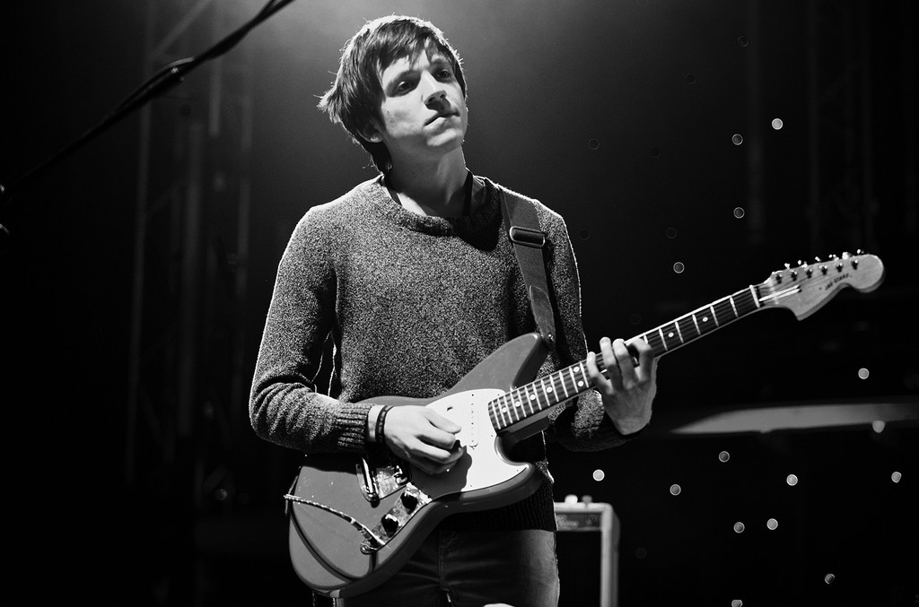 Thomas Fekete of Surfer Blood performs in England
