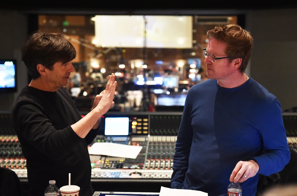 Thomas Newman and Andrew Stanton scoring Finding Dory