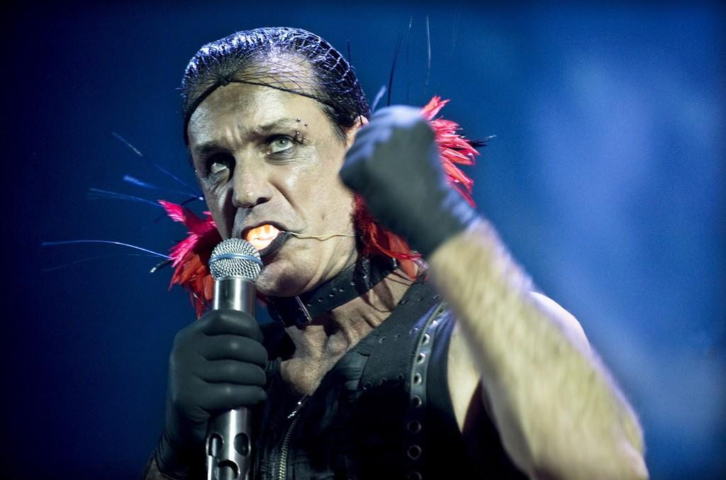 Till Lindemann of Rammstein performs in 2009
