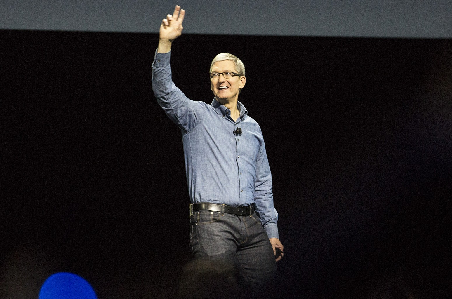 Apple CEO Tim Cook speaks at an Apple event at the Worldwide Developer's Conference