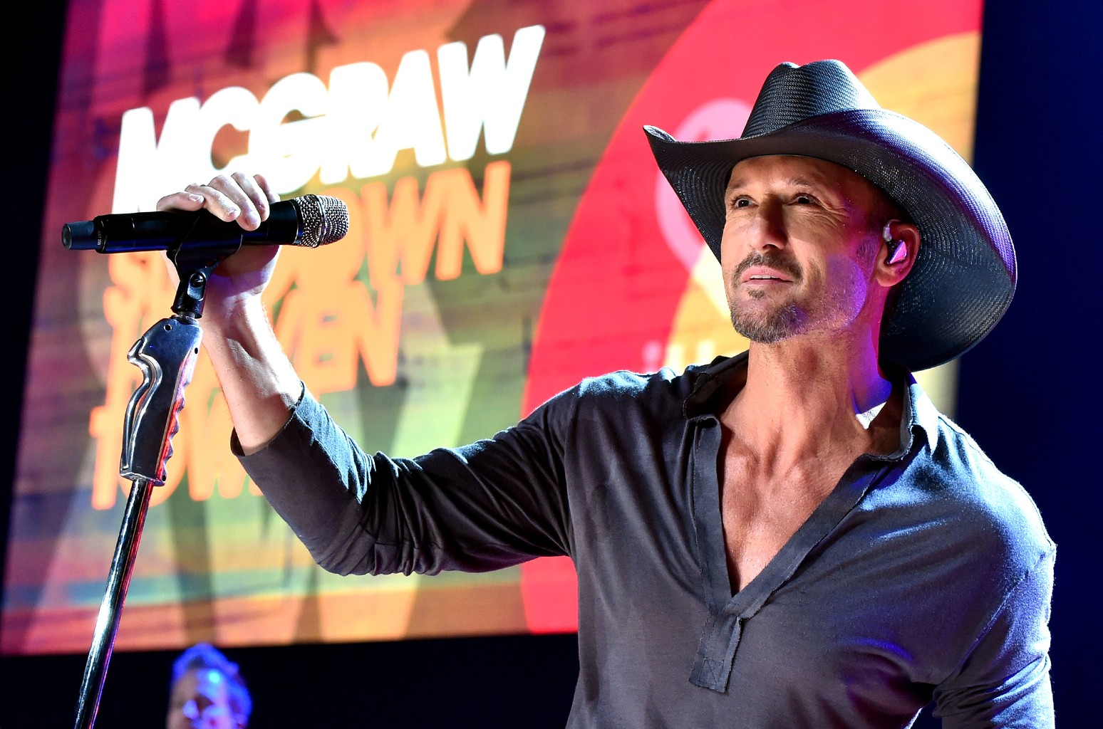Tim McGraw performs at the iHeartRadio Theater on Oct. 15, 2014 in Burbank, Calif.