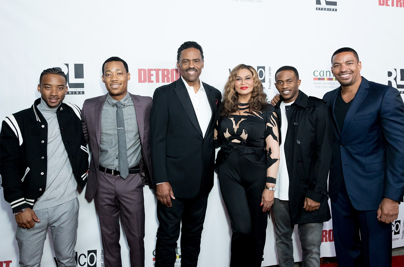 Actors Algee Smith and Tyler James Williams, Richard Lawson, Tina Knowles Lawson and Actors Malcolm David Kelly and Laz Alonso attend Richard Lawson and Tina Knowles Lawson