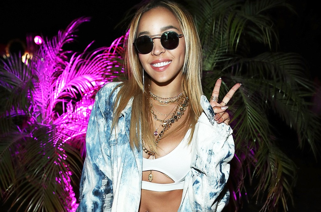 Tinashe attends the Midnight Garden After Dark at the NYLON Estate on April 14, 2017 in Bermuda Dunes, Calif.