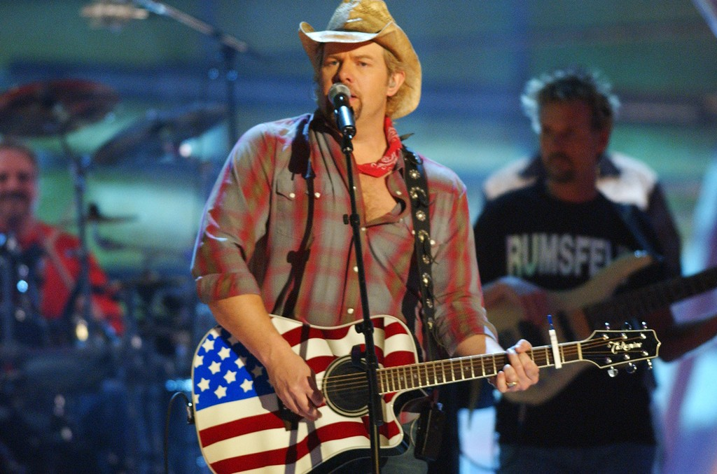Toby Keith during the 2003 CMT Flameworthy Awards Show at The Gaylord Center in Nashville, Tenn.