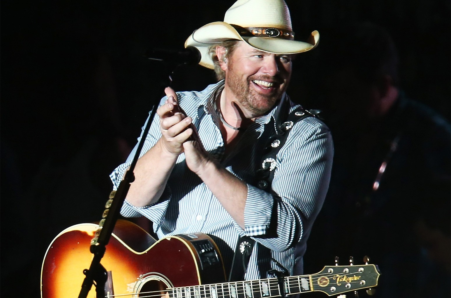 Toby Keith performs onstage at day 1 of the 2013 Stagecoach California's Country Music Festival at The Empire Polo Field on April 26, 2013 in Indio, Calif.