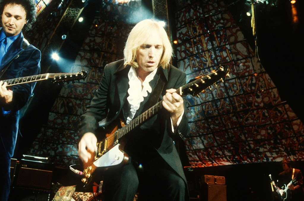 Tom Petty and The Heartbreakers in concert at Irvine Meadows Amphitheater on Aug. 14, 1989 in Irvine, Calif.