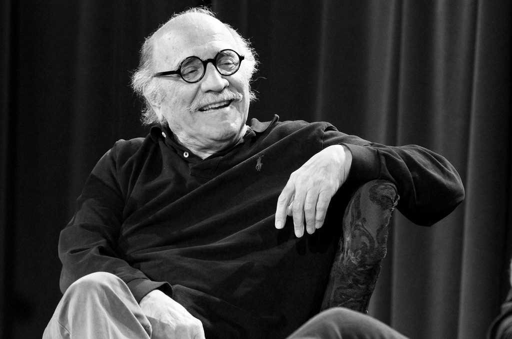 Tommy LiPuma speaks onstage at A&R Icons: Lenny Waronker and Tommy LiPuma at The Grammy Museum on Jan. 15, 2015 in Los Angeles.